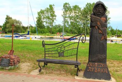 Wakacje dla Singli w Kątach Rybackich - Ławeczka Rybaka