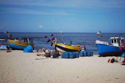 Wakacje dla Singli nad morzem - plaża w Kątach Rybackich