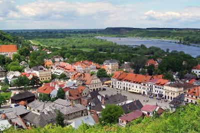 Weekend dla Singli w Kazimierzu Dolnym - Panorama miasta z Góry Trzech Krzyży